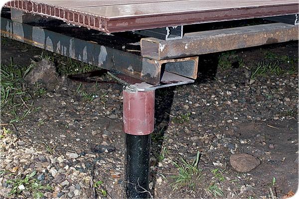 Фундамент каркасного гаража из профильных труб