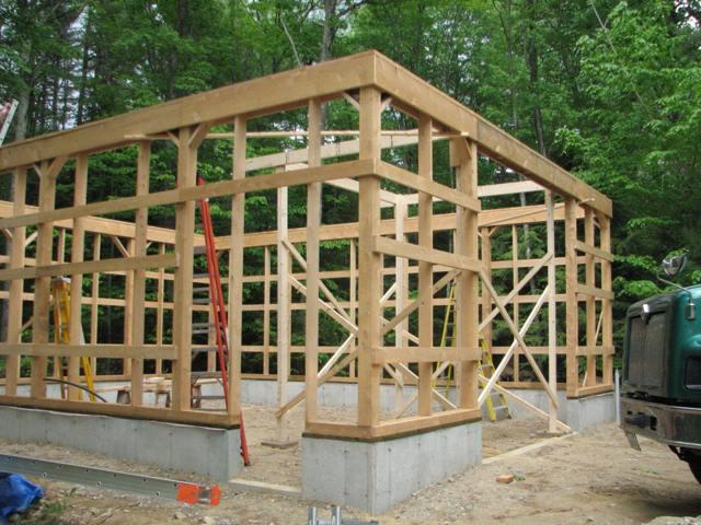 Особенности деревянного каркасного гаража