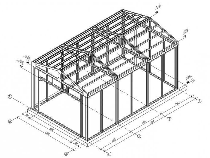 Проект каркасного гаража из профильных труб