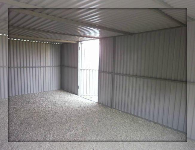 Стены каркасного гаража из профильных труб
