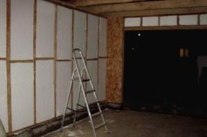 Утепление каркасного гаража из профильных труб