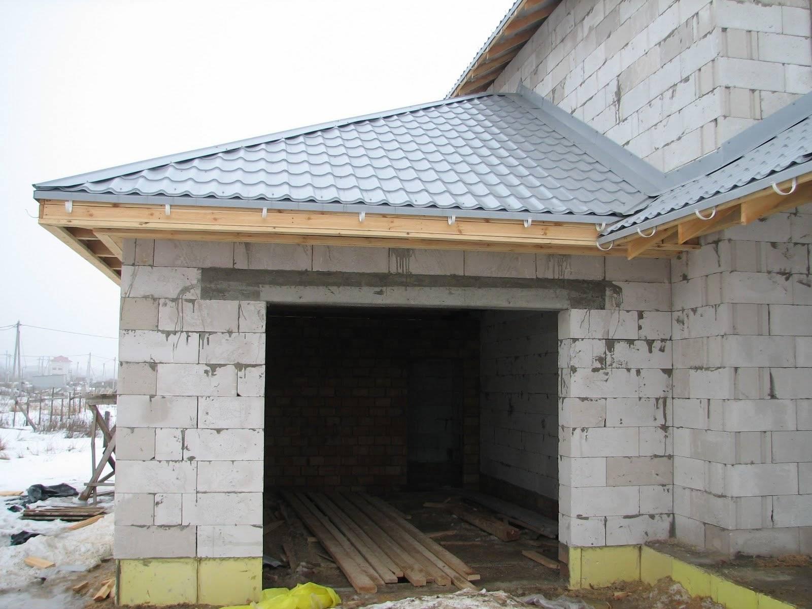 Крыша для гаража из кирпича своими руками