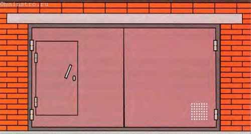 Ворота для гаража из кирпича своими руками