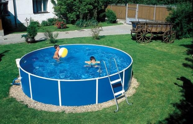 Круглый каркасный бассейн
