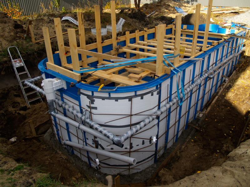 Полипропиленовый бассейн на даче своими руками: фото пошагово