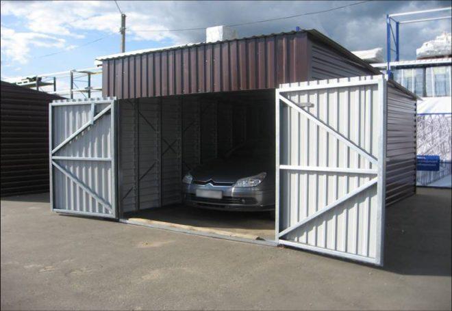 Подробная инструкция по самостоятельному строительству металлопрофильного гаража