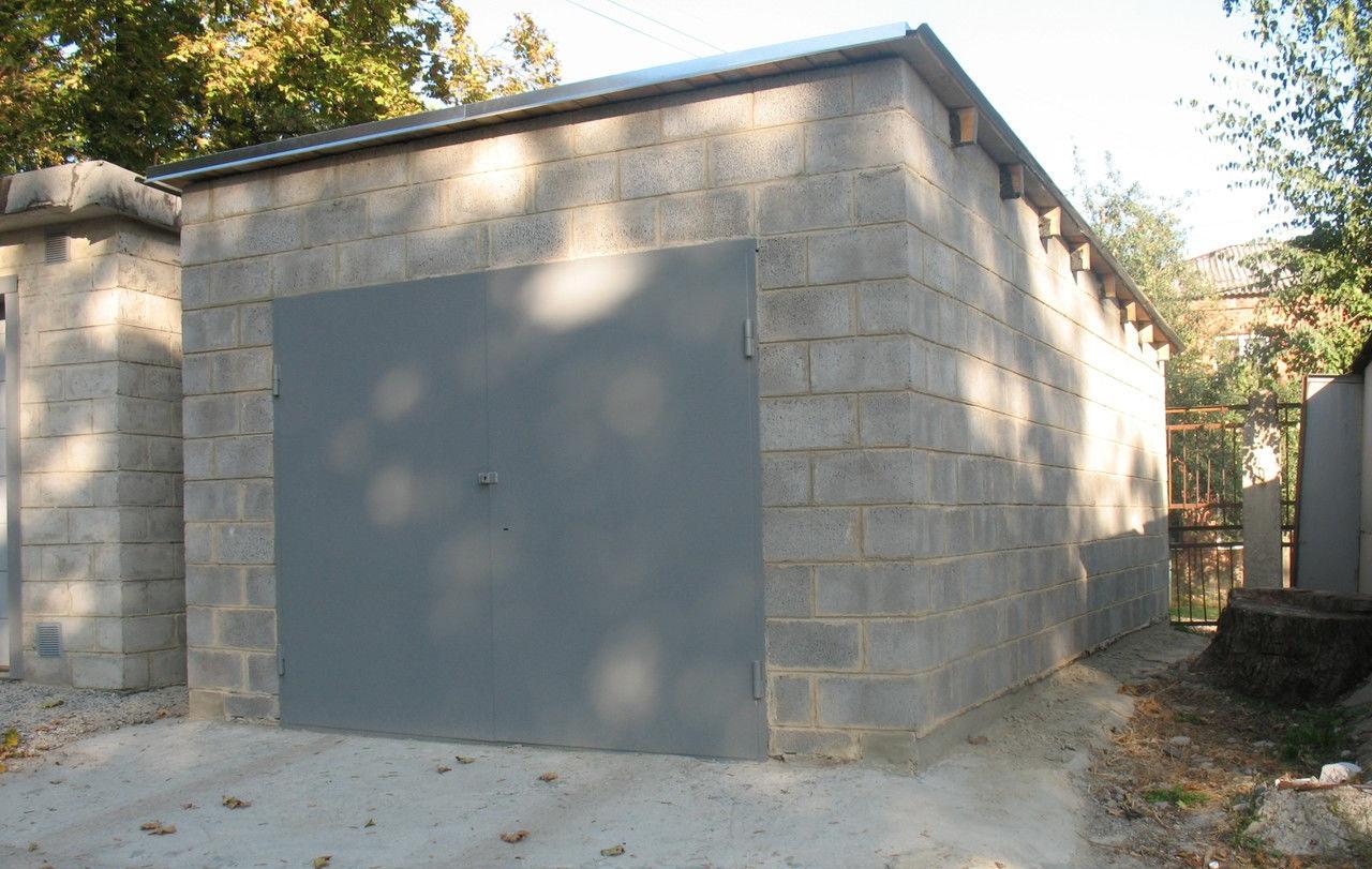 Построить гараж из шлакоблоков цена ворота в гараж железные фото