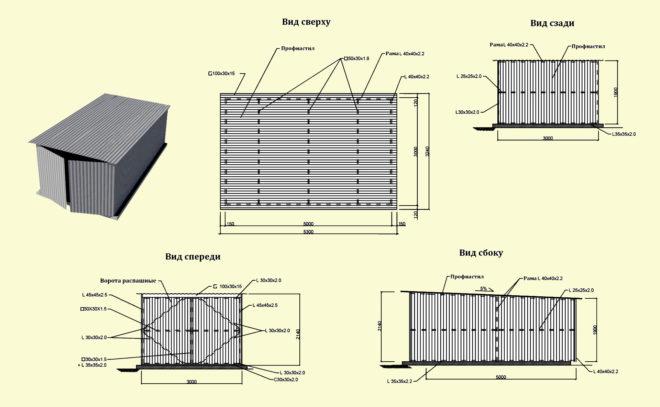 Расчёт материала для строительства гаража