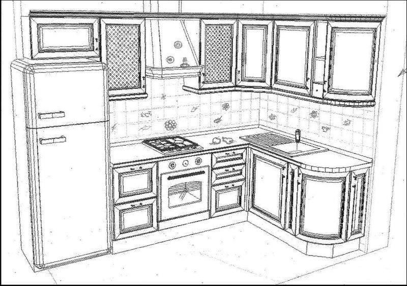 Кухня собственными руками, изготовление чертежей