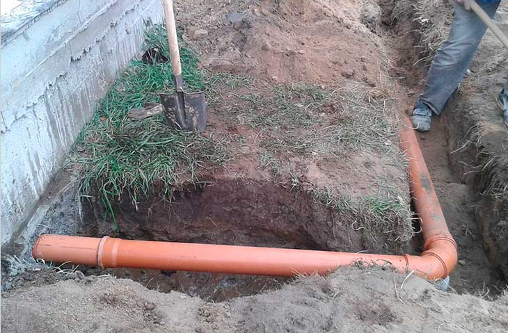Устройство наружной системы канализации
