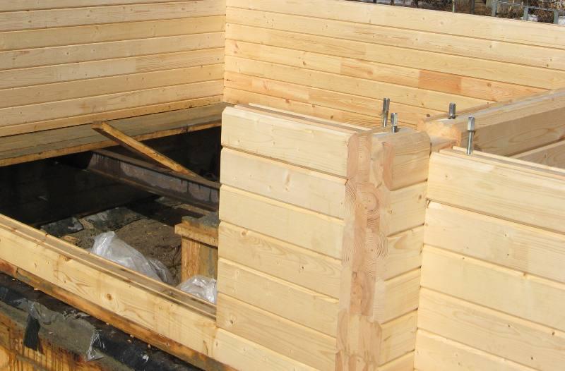 Строим баню из бруса своими руками шаг за шагом
