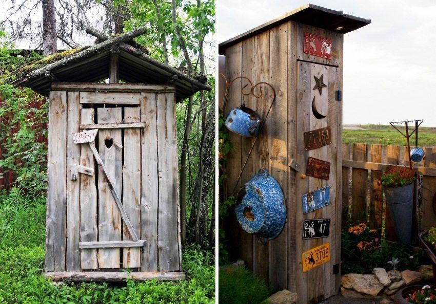 Туалет на даче с выгребной ямой