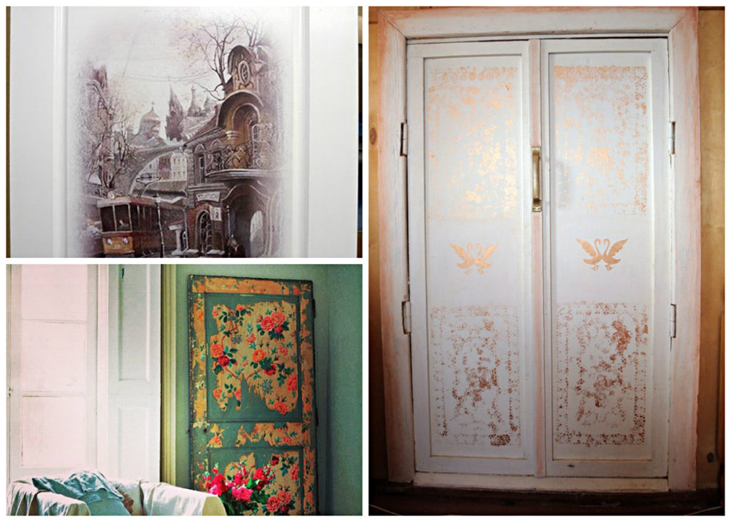 Декорируем двери с помощью декупажа