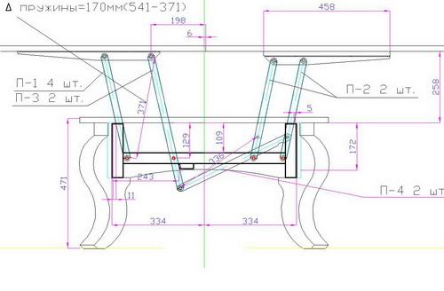 Как сделать стол трансформер своими руками, чертежи?