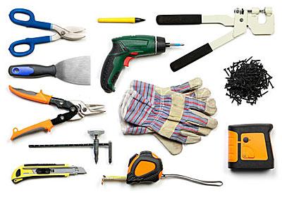 Инструменты для монтажа полок