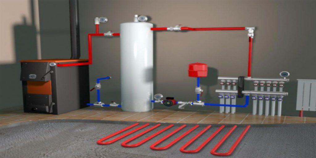 Система обогрева с горячей водой