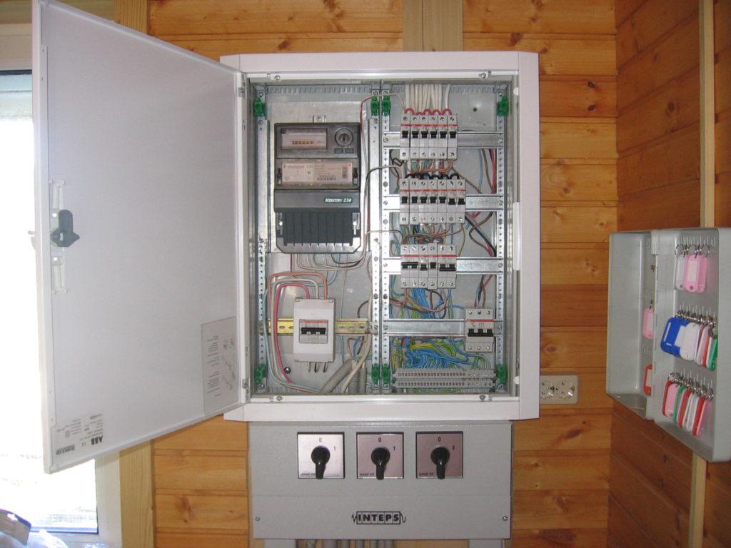 Укладка электрической проводки