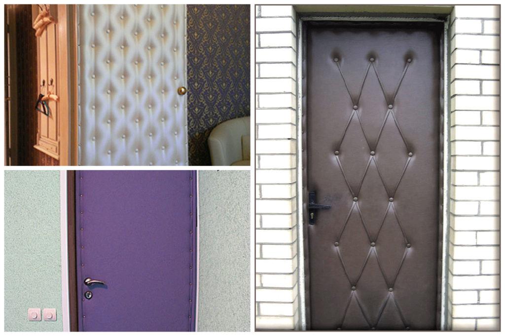 Декорируем двери с помощью ткани