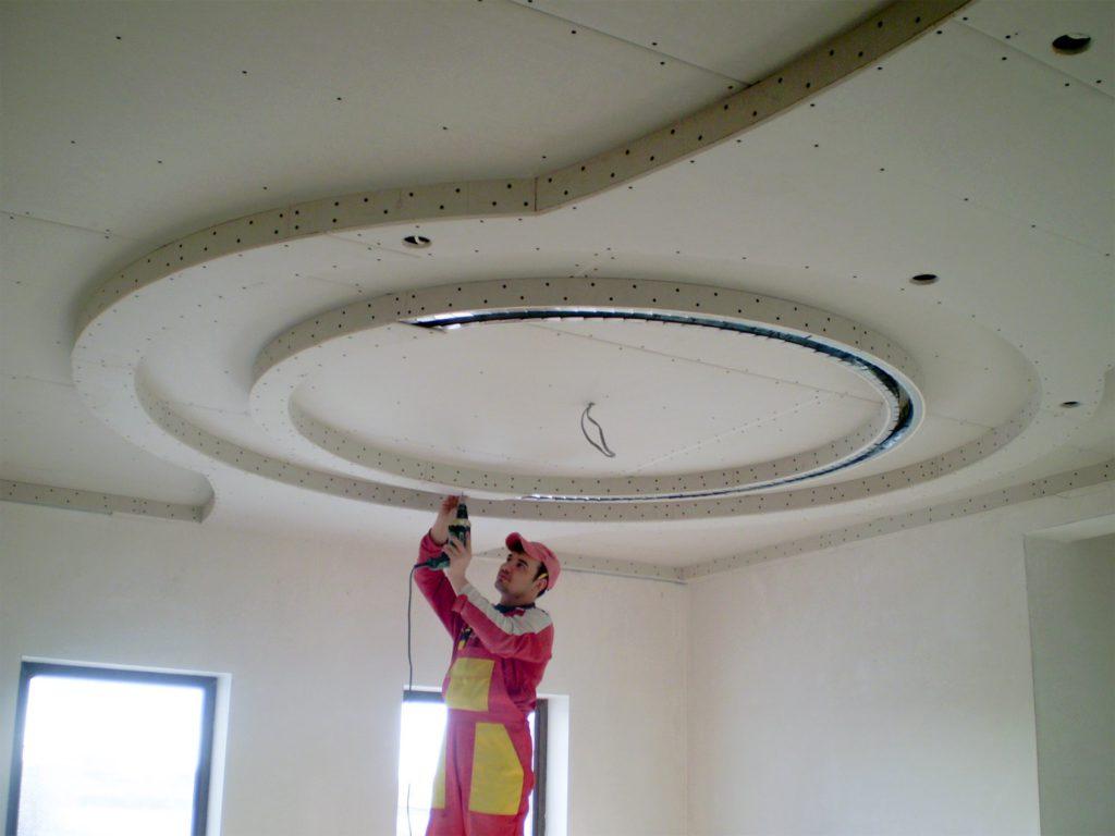 Установка подвесных потолков