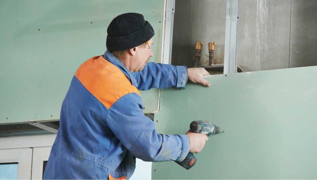 Как крепится гипсокартон к стене или потолку