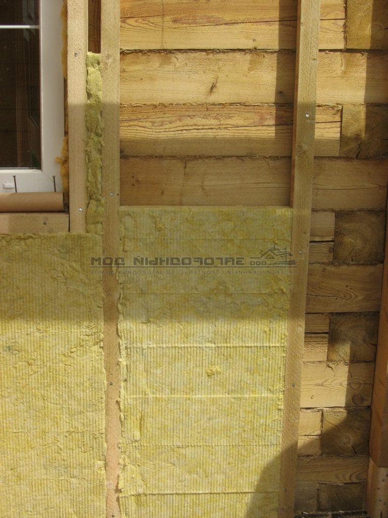 Утепление деревянного дома снаружи минватой