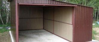 крыша гаража своими руками