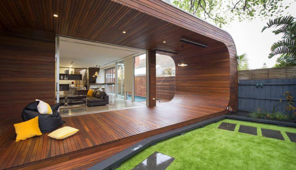 Деревянная отделка террасы