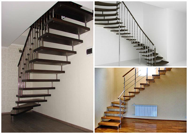 Примеры больцевых лестниц в доме