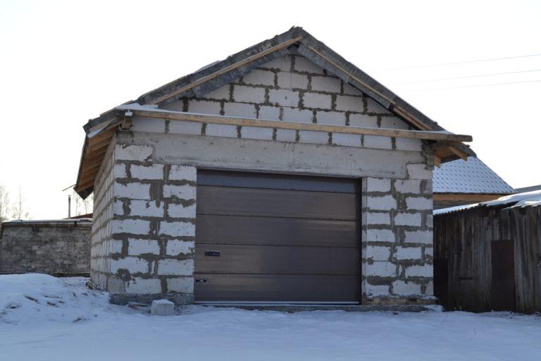 Как построить гараж из газобетона своими руками