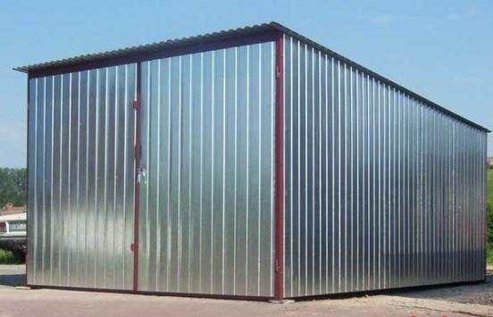 Строительство гаража из профнастила своими руками