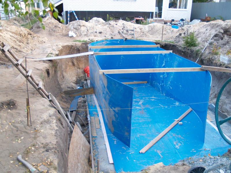 Бассейн для воды на даче своими руками 926