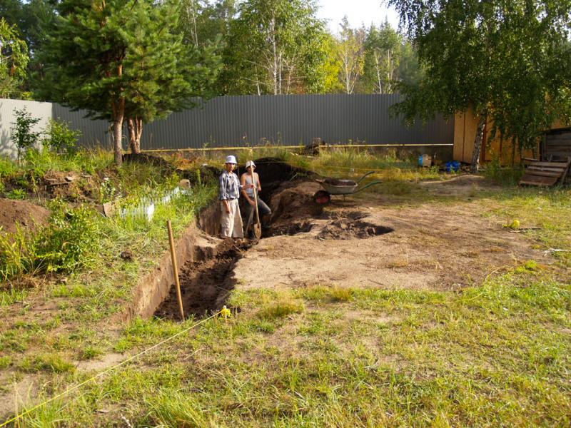 Выкопать бассейн на даче
