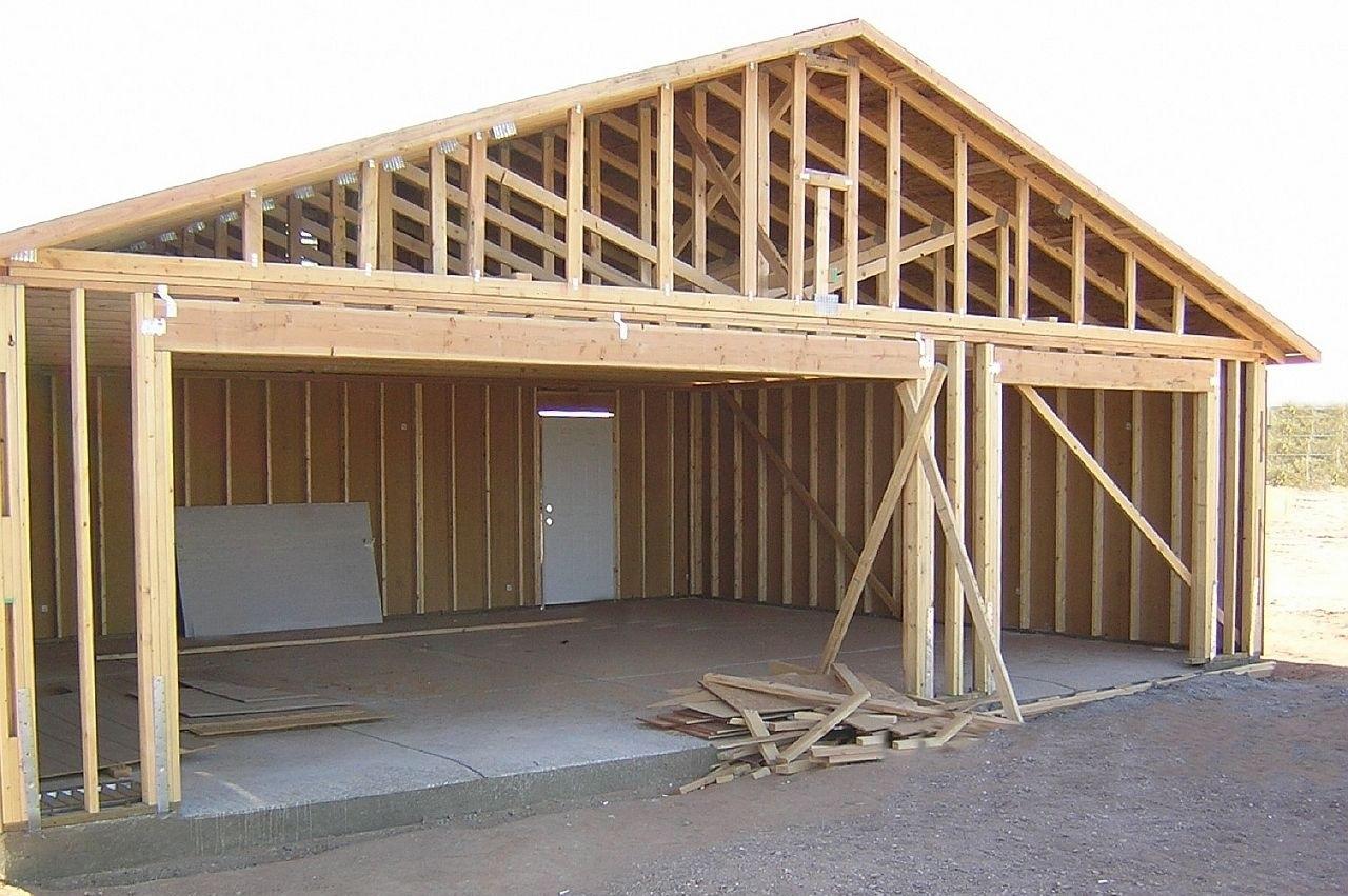 Построить каркасный гараж своими руками