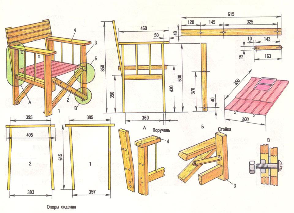 Садовая мебель своими руками с размерами