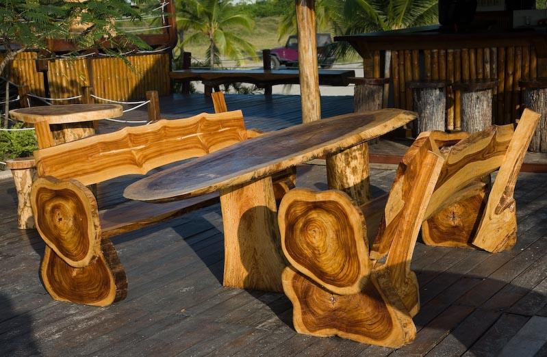 Уличная мебель из дерева своими руками