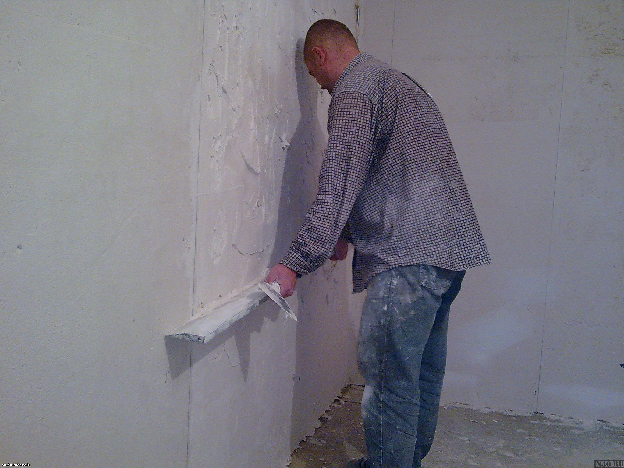 Выровнять стен своими руками смесями