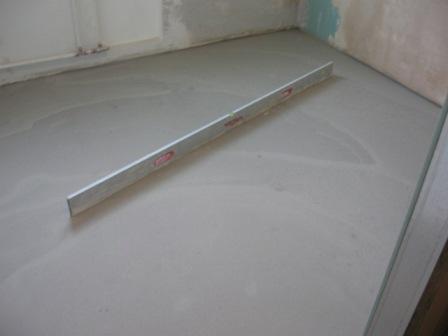 Укладка на бетонный пол