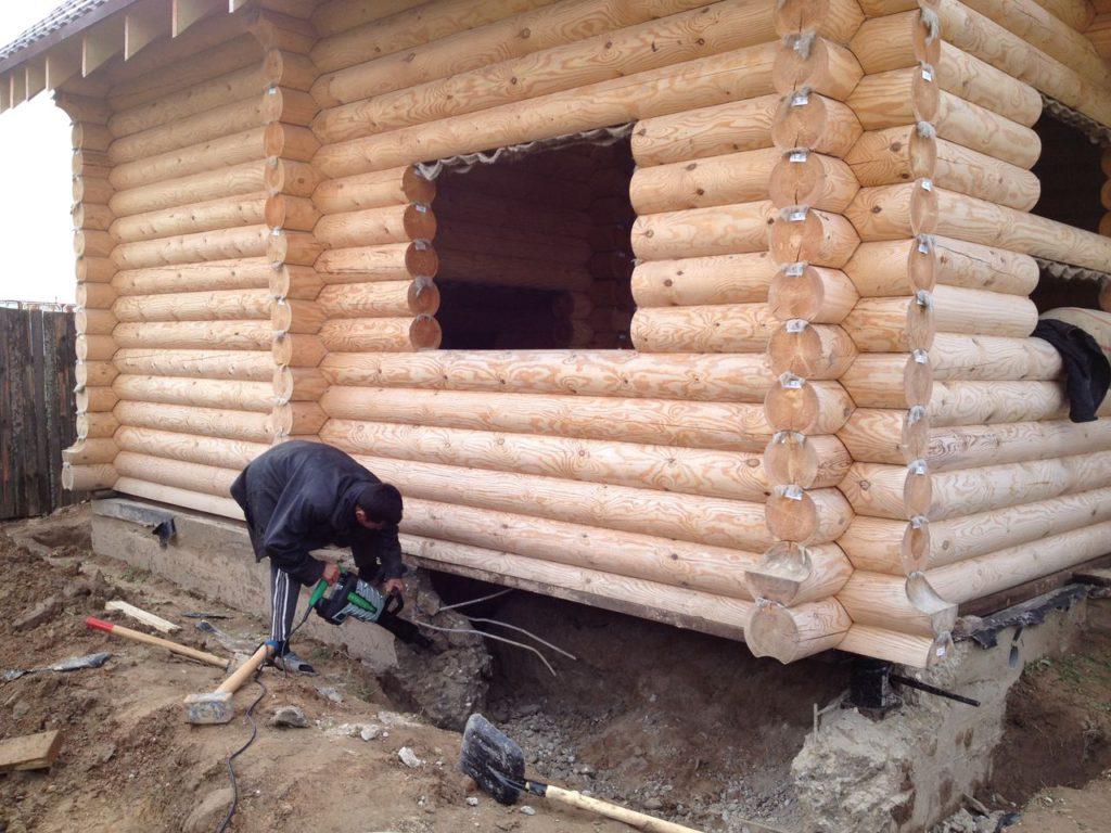 Как сделать фундамент если дом стоит