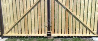 Ворота деревянные своими руками