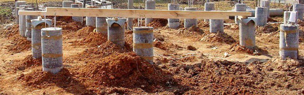 Важные моменты в строительстве фундамента на буронабивных сваях