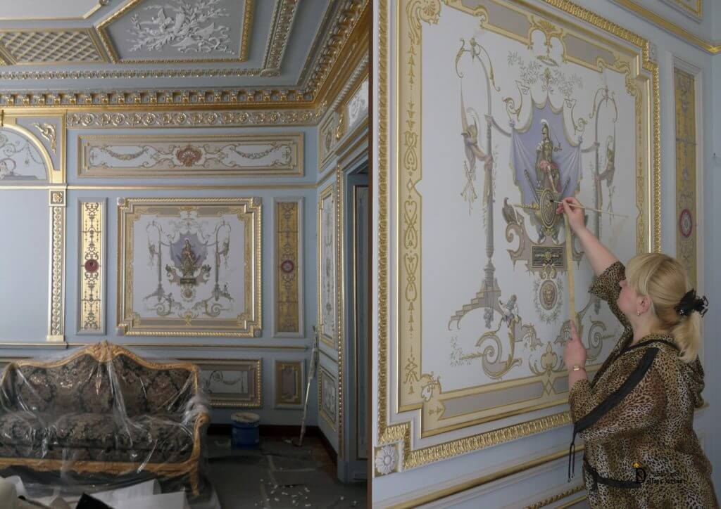 Стиль ампир в интерьере потолка, пола и стен
