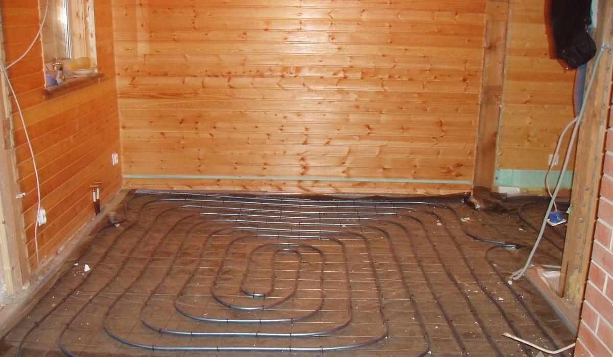Теплый пол для бани от отопления